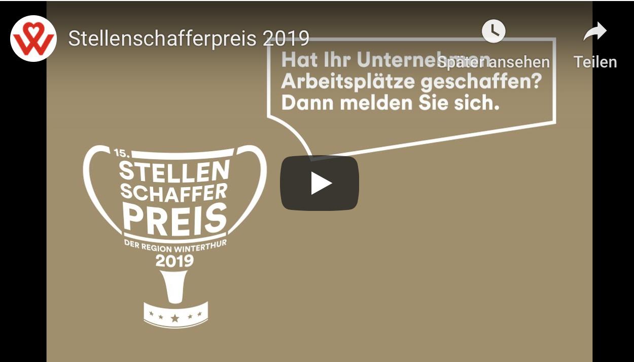 Stellenschafferpreis Region Winterthur - jetzt anmelden