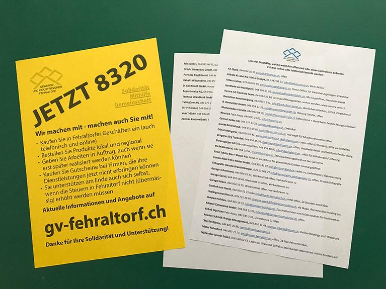 Aktion JETZT 8320 - aktiv werden und am Ende selbst profitieren! 20.4.20